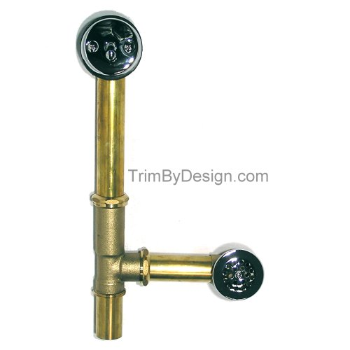 Trim By Design TBD31717 Trip Lever Style Waste And Overflow With Bathtub Drain Brushed Nickel