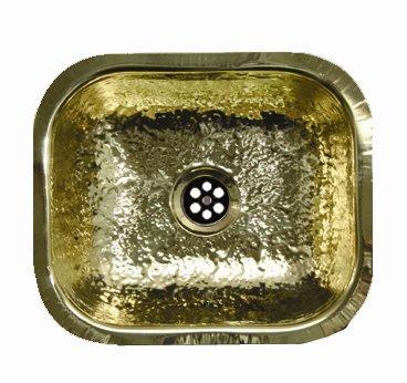 whitehaus wh690bbb rectangular undermount bar sink hammered brass