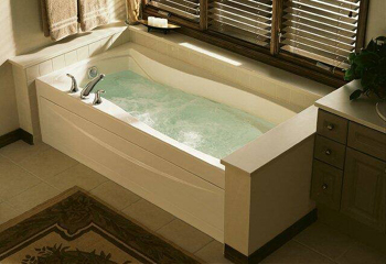 Kohler K 1257 LA 0 Mariposa 6 Whirlpool With Removable Access Panel And Left Hand Drain White