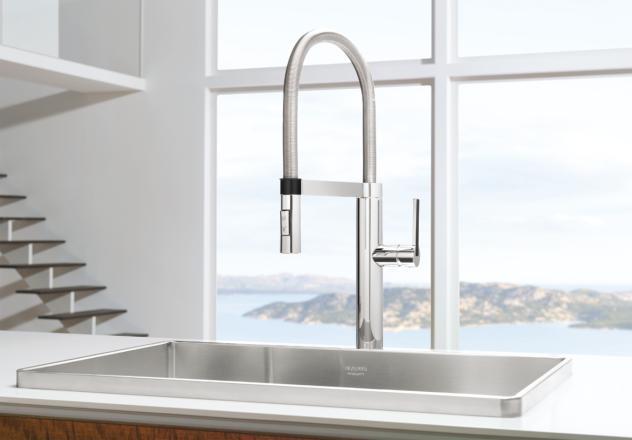 blanco 441331 culina semi pro kitchen faucet chrome