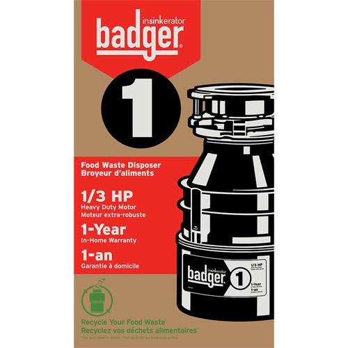 insinkerator badger 1 1 3 hp garbage disposal