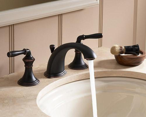 kohler k 394 4 2bz devonshire two handle widespread lavatory faucet oil rubbed bronze