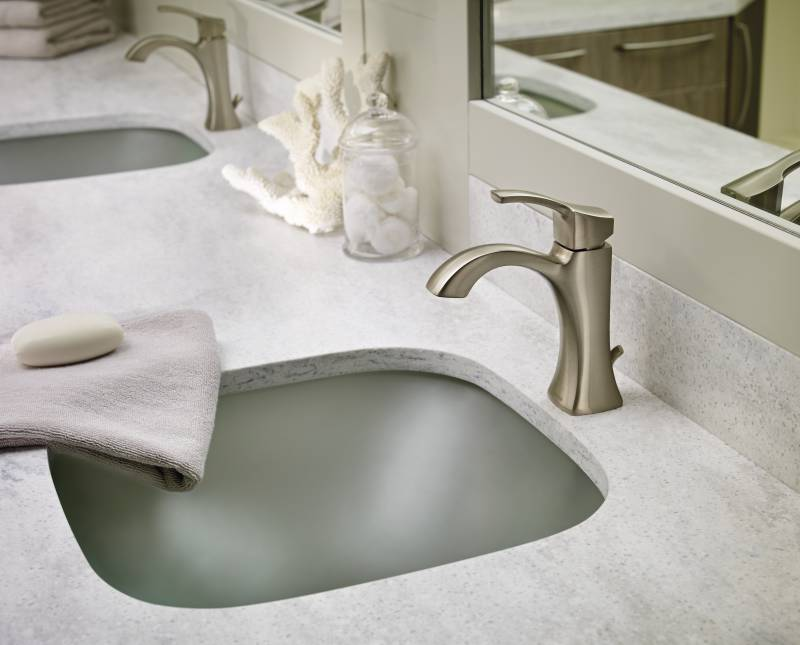 moen 6903bn voss single handle high arc lavatory faucet brushed nickel