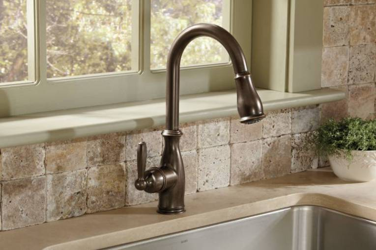 Moen 7185ORB Brantford One Handle High Arc Pulldown Kitchen Faucet     7185ORB