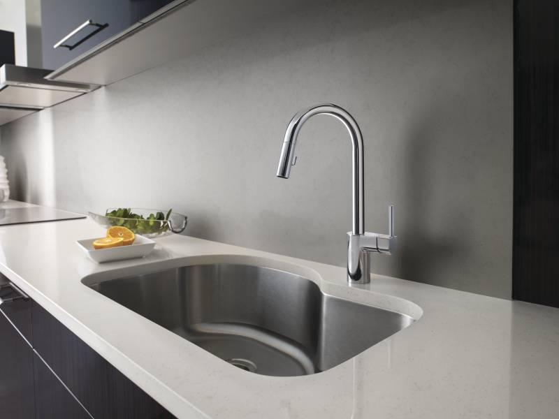 moen 7565 align single handle high arc pulldown kitchen faucet chrome