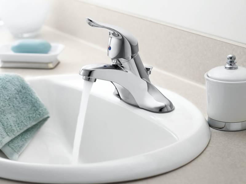 moen l4621 chateau single handle centerset lavatory faucet chrome