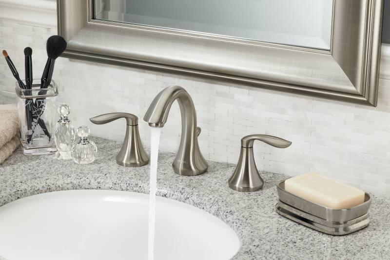 moen t6420bn eva two handle widespread lavatory faucet trim brushed nickel