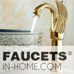 gold bathroom faucets
