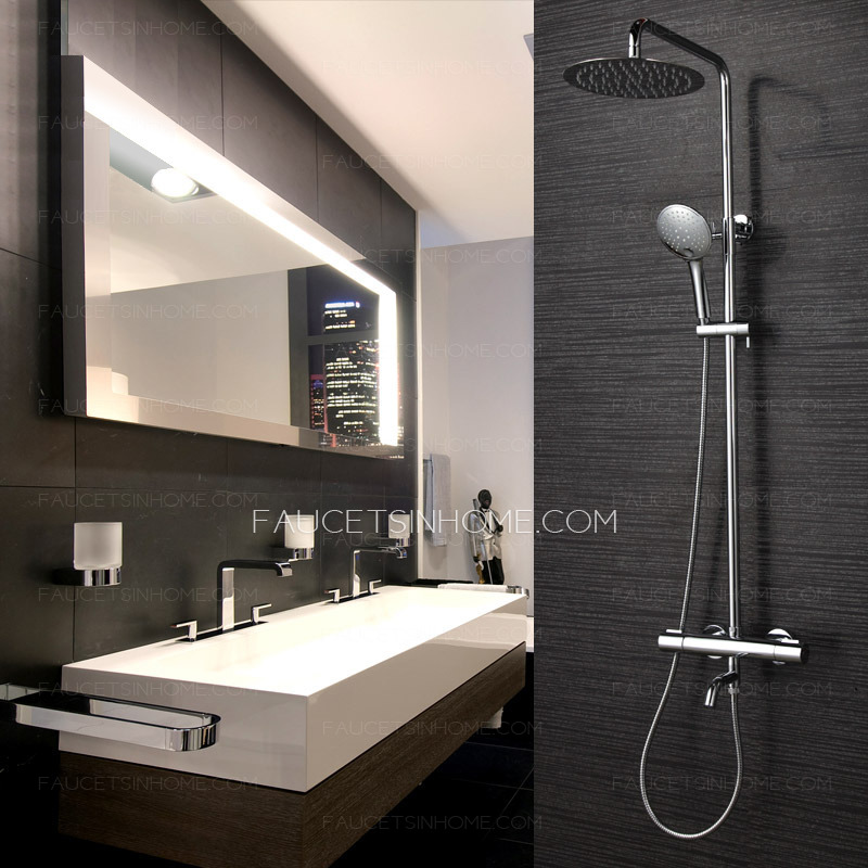 High End Thermostatic Exposed Outdoor Shower Faucet System