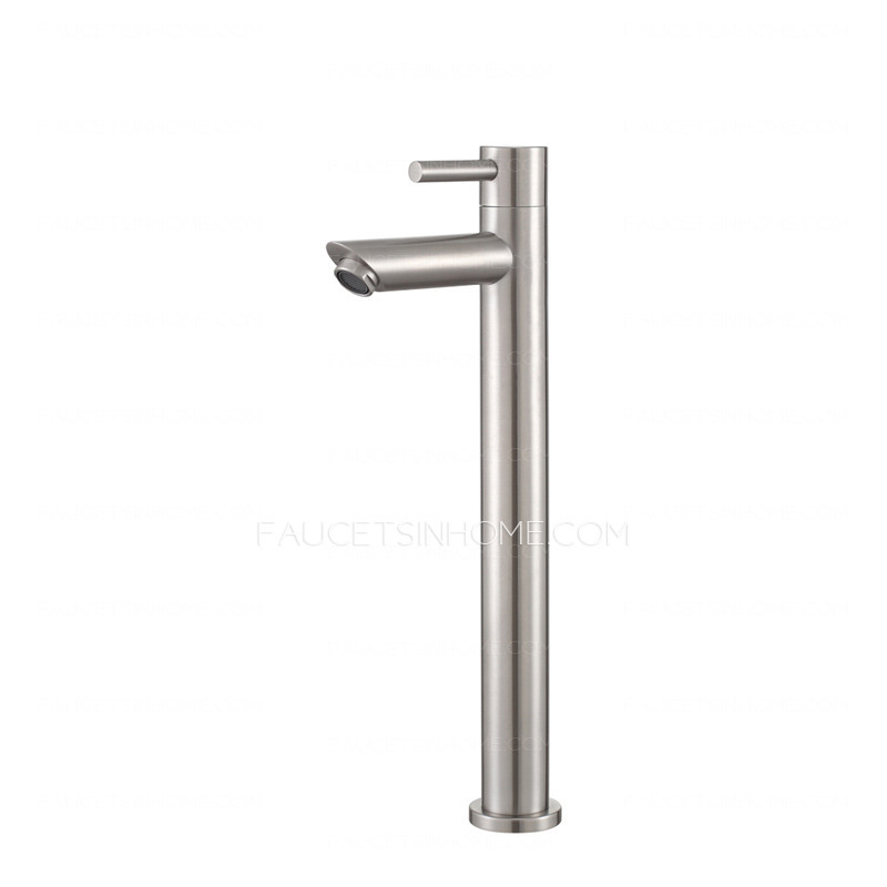 cheap stainless steel heightening bathroom vessel sink faucets