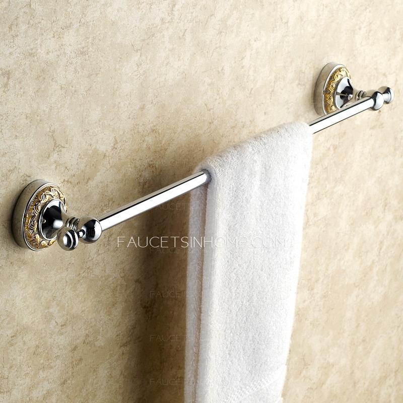 Victorian Style Silver Single Towel Bars For Bathroom