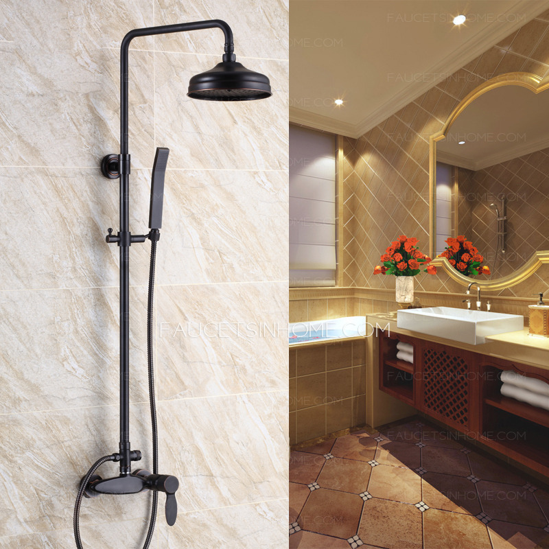 fashionable oil rubbed bronze exposed bathroom shower faucets fth10611