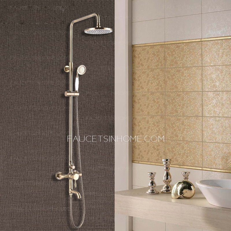 Antique Bronze Bathroom Exposed Top And Hand Shower Faucets