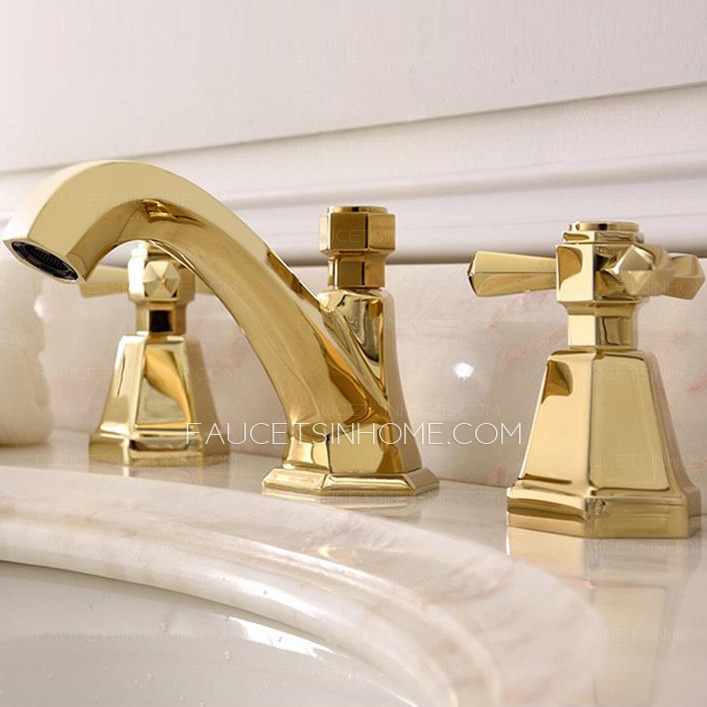 antique brass bathroom faucets widespread golden fth03211303126
