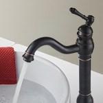 Matte Black Oil Rubbed Bronze Bathroom Sink Faucet Single Lever