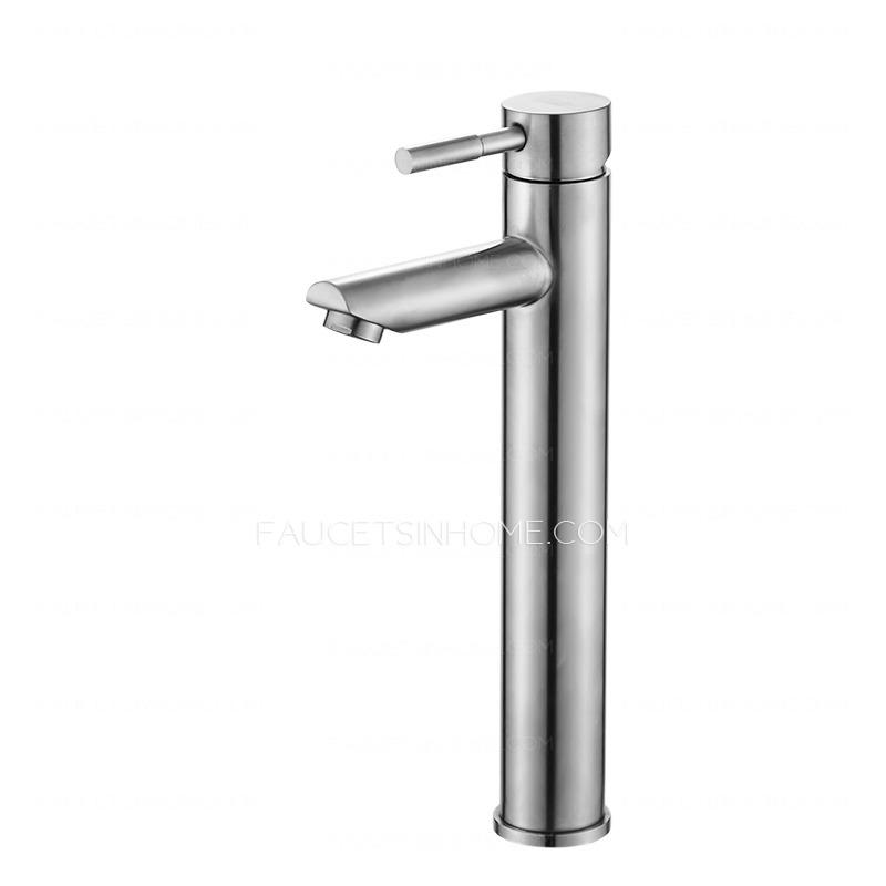 Brushed Nickel Stainless Steel Bathroom Sink Faucet Mixer