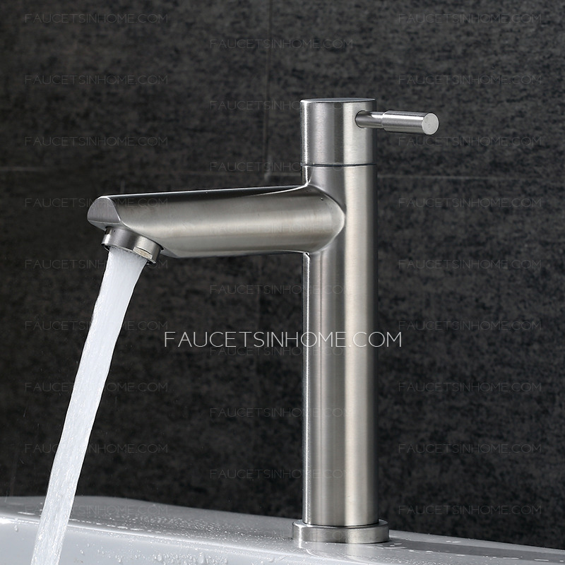 sliver stainless steel cold water brushed nickel bathroom sink faucet high best fth1806221355012
