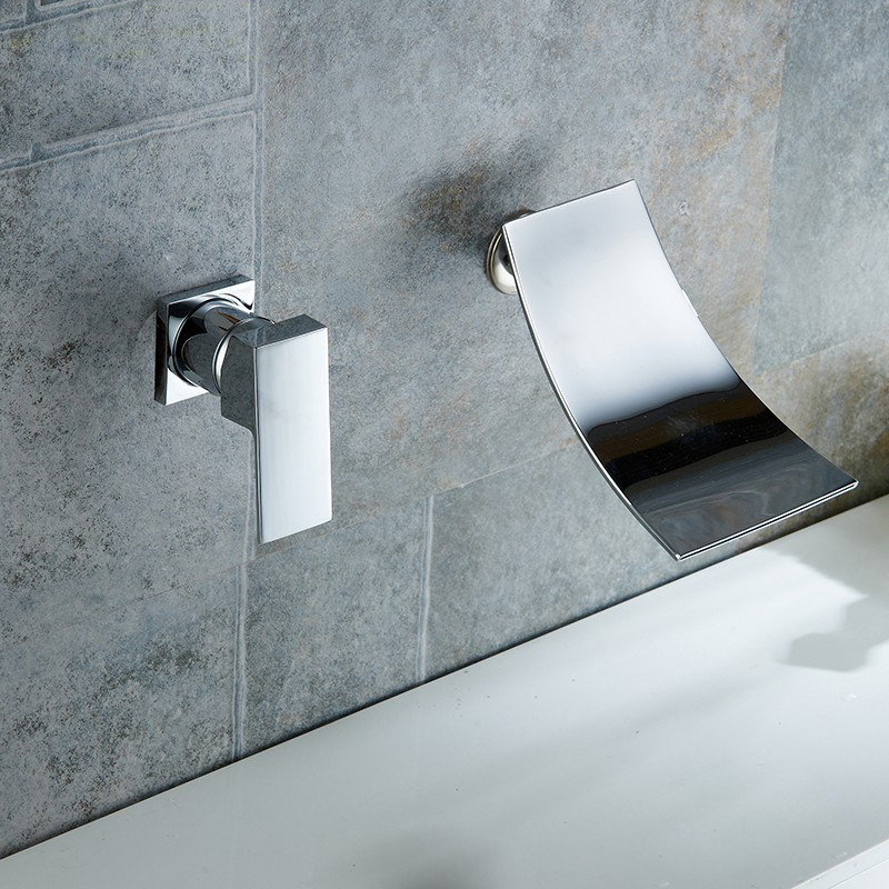 midanya wall mount waterfall bathroom faucet copper single lever mixer fth190919095322
