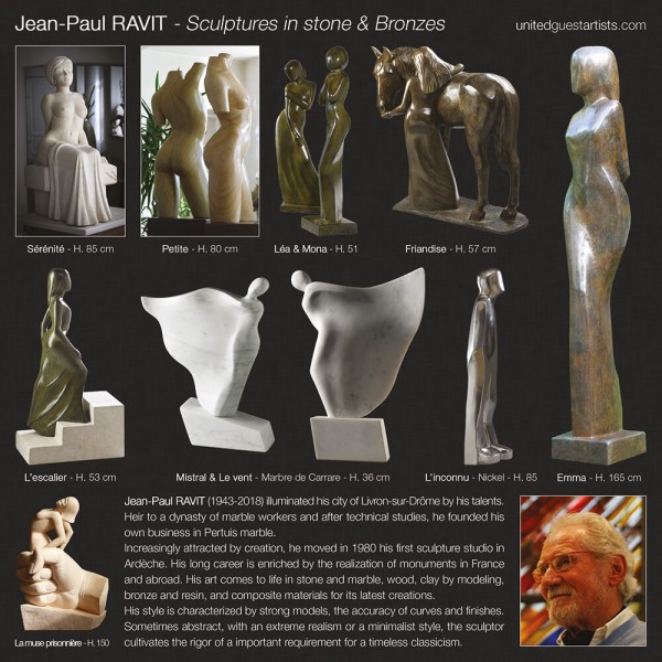 Jean-Paul RAVIT - Sculptures in stone & Bronzes