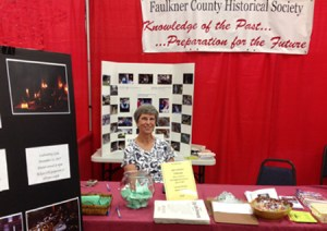 Historical Society's booth at the 2015 Faulkner County Fair, Faulkner County Arkansas