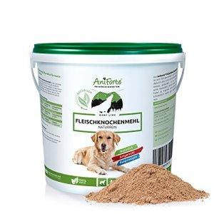AniForte Farine d'os 2 kg pour Chiens et Chats, Riche en Calcium, Haute qualité et supplément naturel pour BARF