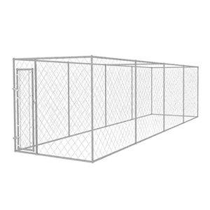 Festnight- Chenil extérieur pour Chiens en Acier galvanisé 800 x 200 x 195 cm
