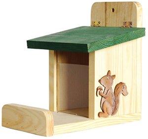 Luxus-Insektenhotels 22219e Station mangeoire pour écureuils avec silo en verre acrylique UV Barre d'appui Écureuil décoratif
