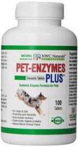 NWC Naturals Pet-Enzymes Joint plus et Allergy Relief 100 comprimés.