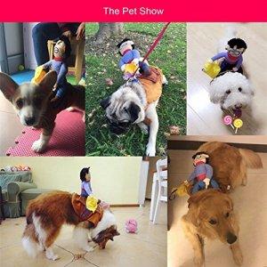 Ryrty TM Burst Sells Pet Riding Habit Belle V¨ºtements pour Chiens CR¨¦atifs et Espi¨¨gle V¨ºtements Confortables Tissu Pet Costume [S]