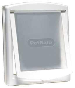 PetSafe Grande Porte pour Animaux d'Origine Staywell (L), Résistante, Panneau de Fermeture Inclus – Blanc