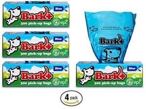 Bark 1200écorce + Sacs à Déjections Canines, Lot DE 4