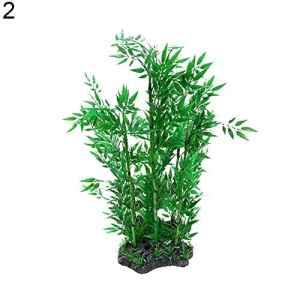 iodvfs Aquarium Eau Artificielle Bambou Herbe Aquatique Plante Paysage
