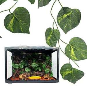 Jiamins Plante de Terrarium en Plastique Decor Terrarium, Plantes Reptiles Amphibiens