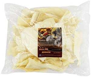 Raw Hide Marque en Cuir Brut 2en 10,2cm Prime Rib Essence Frites, 907,2Gram, Sac/Autocollant