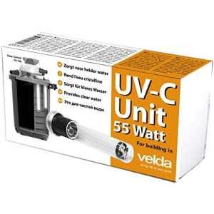 Velda 126577Unité C UV de rechange pour dissolvant électronique contre les algues vertes dans le bassin, unité UV-C 55W