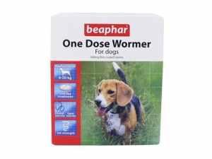 Beaphar Wormer à une dose pour chiens de taille moyenne