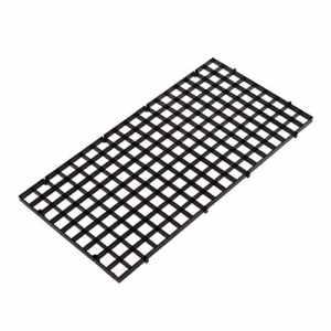 Dabixx Aquarium Isolation intercalaire filtre Patition Tableau Net intercalaire support kit Ventouse, Plastique, Noir, 1 Set(30×15 cm)