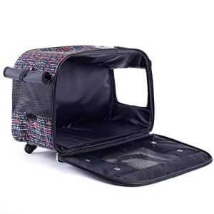 Generic Cage Coque T Cage de Transport Valise Coque Trolley Carr Chihuahua Chaton Chaton H Transport Sac Chat Huahua kit Sac à Main de Transport Pet Chih