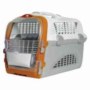 Generic Caisse de Transport en Plastique pour Animaux domestiques Transparente avec Serrure pour Porte de Chat Taille L