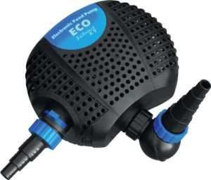 Jebao OME 8000 Eco Pompe de Bassin éconergétique, pour la Filtration ou les Cours d'Eau 8000L/H, 2 entrées.