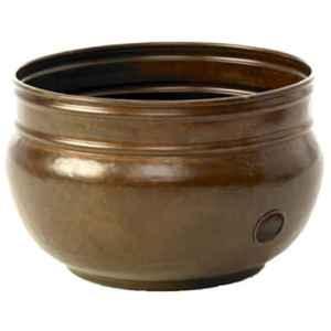 Liberty Garden Products Inc–Tuyau Pot de rangement, rustique Laiton, peut contenir jusqu'à 30,5m.