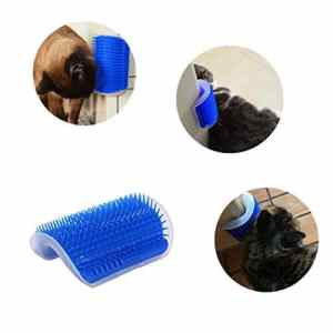 nulala Cat Self Groomer avec Catnip, Brosse pour Chien Cat Cat Corner, Coin pour Chat (Blue)