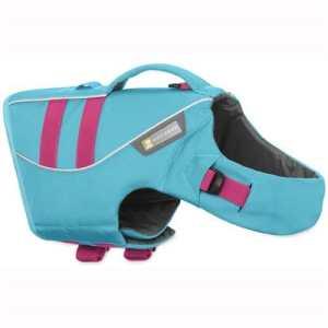 Ruffwear Gilet de Sauvetage pour Chien, Chiens de Taille Moyenne, Ajustement sur Mesure, Taille : M, Bleu (Blue Atoll), Float Coat, 45102-409M
