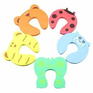 Cartoon Animals Door Stopper Drawers Armoire Sécurité Serrure Pince EVA Mousse Finger Pince Garde Protecteur De Sécurité des Enfants – aléatoire