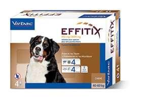 Effitix Spot On très grand chien 40 – 60 kg 4 pipettes