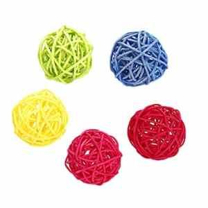 Logres. Lot de 5 balles colorées à mastiquer pour Animal Domestique et Chat
