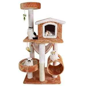 ZHANGM Cat Tree Pet Deluxe Grande Tour d'activité condo et sisal Couverts gratter poteaux hamac perches Plate-Forme,B