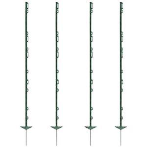 40x Piquets de clôture électrique « farm 156 » VOSS.farming, 11 oillets, coloris vert