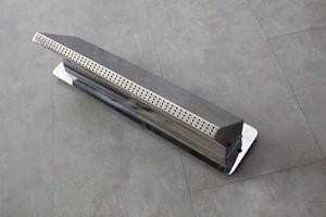 CASCADES-INOX Lame d'eau Bec Pluie Largeur 50cm / Embase Murale : 56cm par 13cm