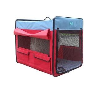 Chat Dog Tent Large et Medium Chenils Cat Nest Livré Salle Doghouse Extérieur Pliable Facile à Porter Imperméable Prévenir Moustiques (Couleur : Rouge, Taille : L)